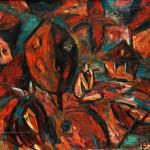 Декоративный пейзаж х.м 120х130 1993