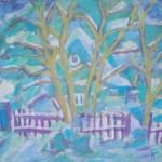 Зима в Абрамцево б.см.тех. 42х61 2011
