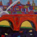 Мост Александра II. Париж, бумага, смешанная техника, 45х61, 2017