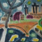 Новый мост. Париж. Вечер б.акв. 40х60