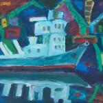 Ночной порт х.м. 76х93 2010