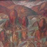 Осень в Абрамцеве х.м. 105х105 1990