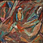 Разговор с птичкой х.м. 83х93 1993