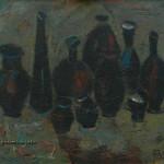 Черный натюрморт х.м. 90х110 1990